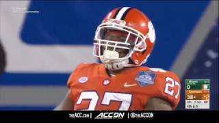Miami vs  Clemson Tigers  ACC Football Championship Condensed Game 2017