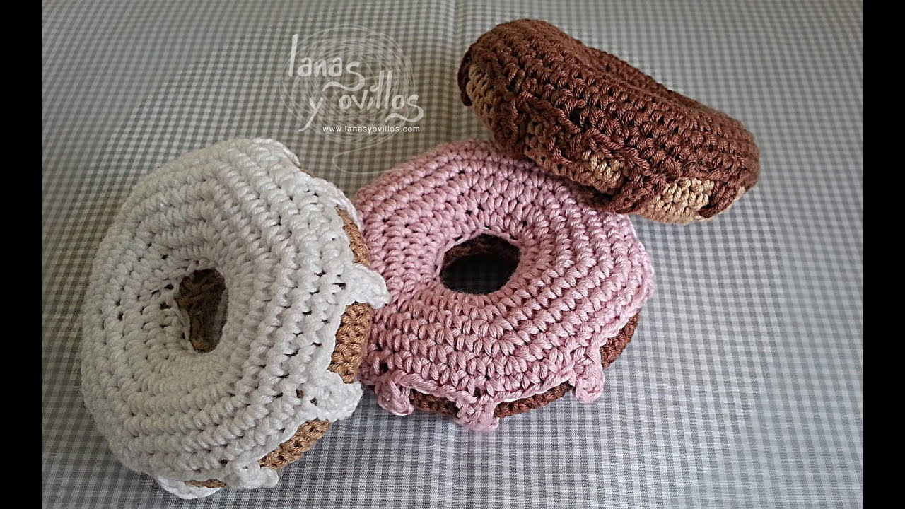 Crochet Donut Pillow : Tutorial Donut Crochet o Ganchillo Doughnut - YouTube
