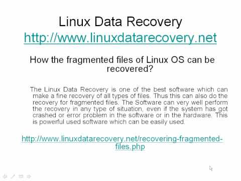 Software for lost data of Linux OS