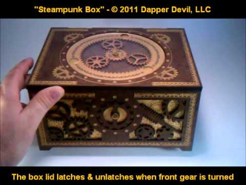 Steampunk Box - working planetary gears & gear latch