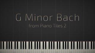 G Minor Bach Piano Tiles 2 Synthesia Piano Tutorial Jacob 39 S Piano