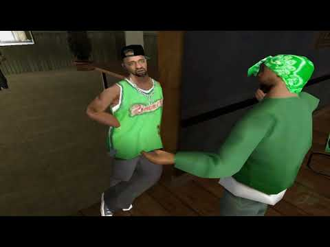 CJ (Grove Street) VS The Ballas - GTA San Andreas