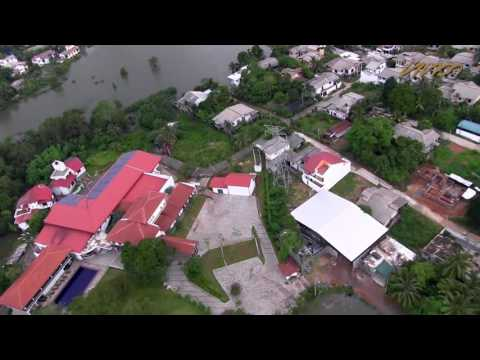 Aerial view of flood affected Colombo and Gampaha districts in Sri Lanka