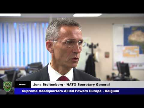 NATO Secretary General visits NATO's Crisis Management Centre.