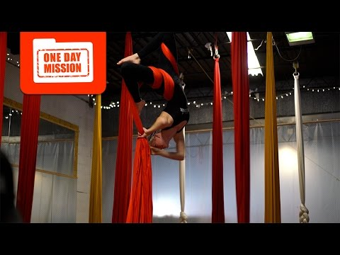 Aerial Silks Class Marc Goes to the Circus | One Day Mission Ep. 1