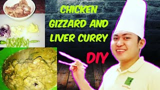 Gizzard and liver curry