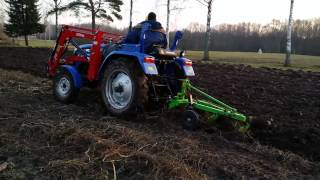 Fall plowing in heavy ground with foton 254