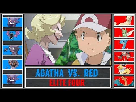 Red vs. Agatha (Pokémon Sun/Moon) - Indigo Plateau/Pokémon League - Pokémon Origins