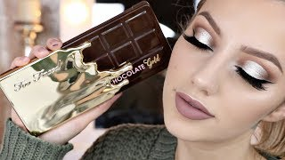TOO FACED CHOCOLATE GOLD BAR PALETTE TUTORIAL | Jazzi Filipek