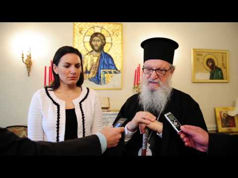 ARCHBISHOP DEMETRIOS AND GREEK TOURISM MINISTER OLGA KEFALOGIANNI VIDEO