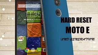 How to Hard Reset Moto E 2nd gen