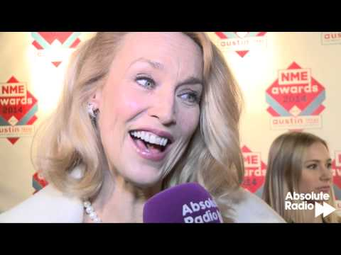 Jerry Hall is proud mum at the 2014 NME Awards - interview