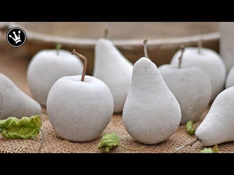 DIY - Herbstdeko selbermachen | Früchte aus Beton | Gießform aus Silikon herstellen | GEWINNSPIEL