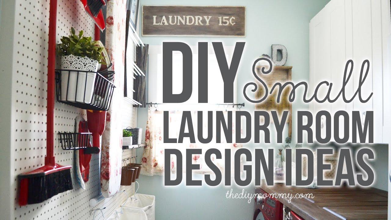 DIY Small Laundry Room Decor & Organization Ideas - YouTube