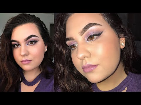 A PURPLE LOOK  Trying Out NEW Products ♡ Ms Laris Beauty