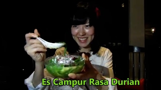 Japanese Idol Reaction Indonesian Desser Ice Durian // Idol Imut Jepang Ini Makan Es Campur Durian
