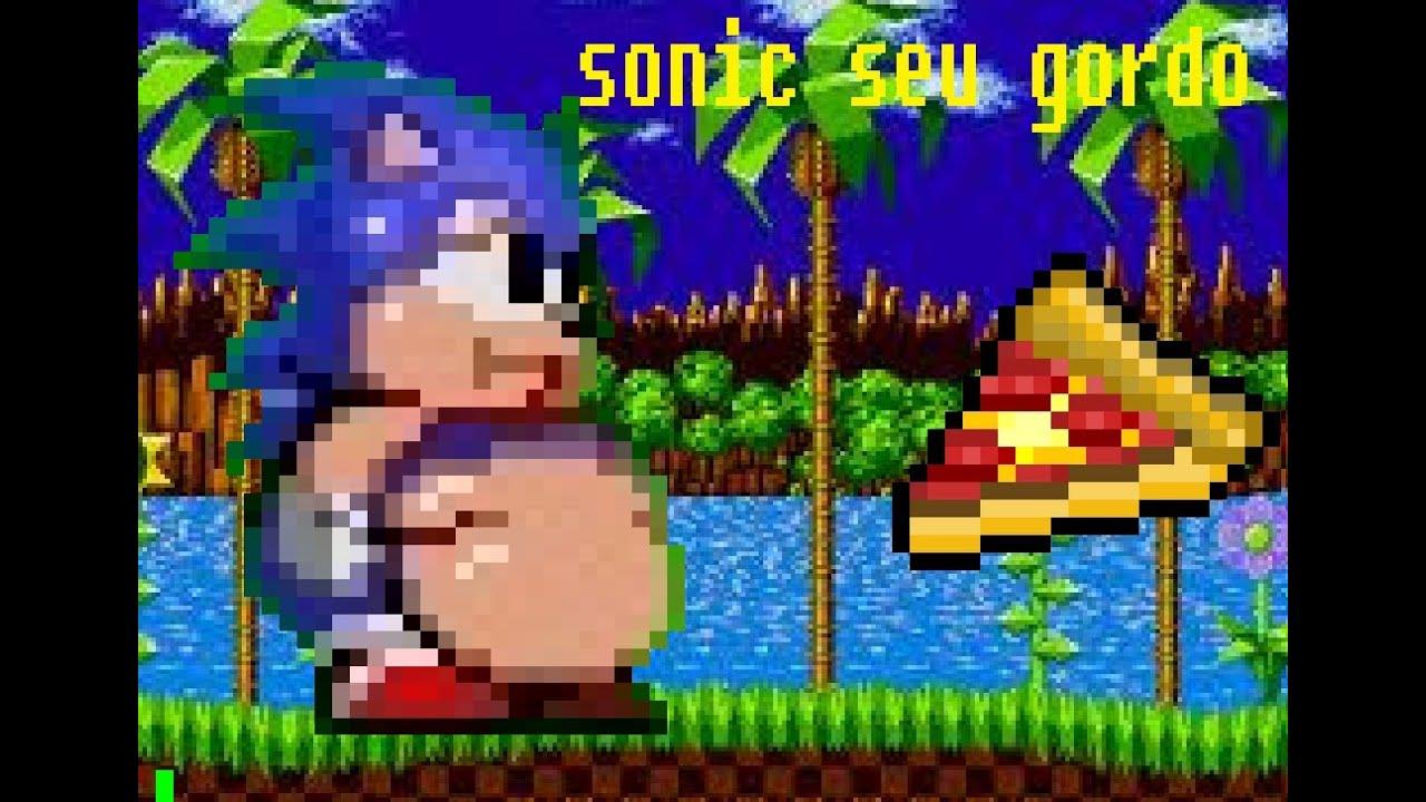 Fat Mario vs Fat Sonic Hack Sonic Gordo Fat