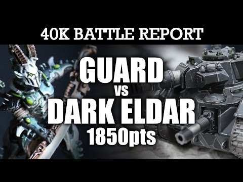 Dark Elder vs Imperial Guard Warhammer 40K Battle Report A BRIDGE TOO FAR! 6th Ed 1850pts | HD Video