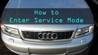 2002 Audi S4: Ep. 135 - How to place into service mode