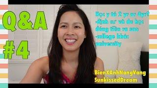 Q&A#4:Học y tá /định cư  đóng tiền ra sao/college khác university♡Cuộc sống Mỹ♡Du học Mỹ♡NangVang