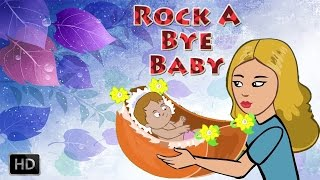 Rock A Bye Baby With Lyrics - Nursery Rhymes for Children