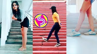 Stair Shuffle Dance Challenge Musically Compilation #stairchallenge