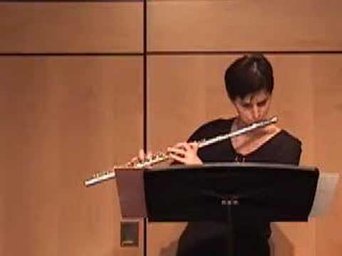 Ibert Piece for solo flute -  Nina Perlove, flute