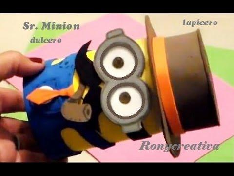 Dia del padre)COMO HACER UN Sr. MINION - Mr. MINION DESPICABLE ME DIY ...