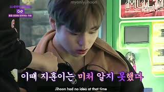 Cute reactions of Park Jihoon while eating Spicy Ramen Noodles