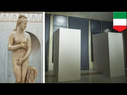 Iran president in Italy: Italy covers up nude sculptures for Rouhani's visit - TomoNews
