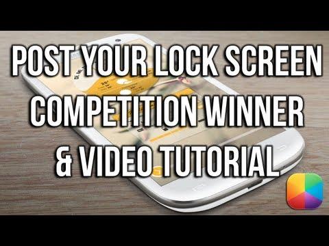 Post Your Lock Screen Winner & Video Tutorial