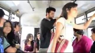 Watch How Boy Takes Harassment Revenge with a Girl  in a Public Bus - YouTube.FLV