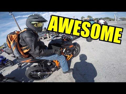 Extremely Fun Bike Meetup - Wheelies, Cops, and Free Shit!