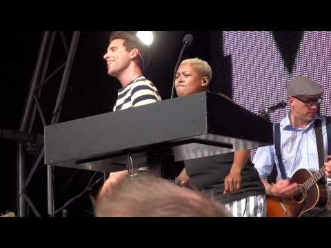 "MIKA "" Celebrate "" with Dev@ LoveBox Festival at Victoria Park in London on 17 June 2012"