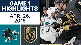 NHL Highlights  Sharks vs. Golden Knights, Game 1 - Apr. 26, 2018