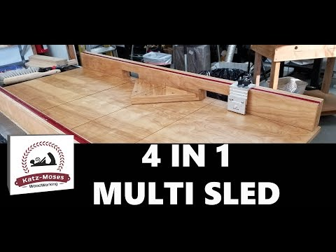 4 in 1 Multi Crosscut Sled - 90 and 45 Degree, Miter, Dado