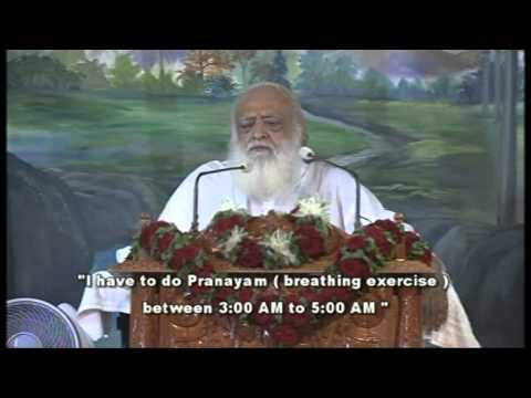 How to wake up early in morning tips by Pujya Asaram ji Bapu (   ) [English Subtitle]