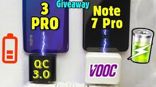 Realme 3 pro vs Redmi Note 7 Pro Opposite Fast Charging speed Test comparison