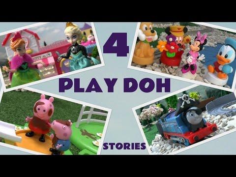 Play Doh Peppa Pig Frozen Princess Anna Elsa Mickey Mouse Thomas Pirates Playdoh