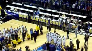 2010 SEC Champion UK Wildcats Trophy Ceremony