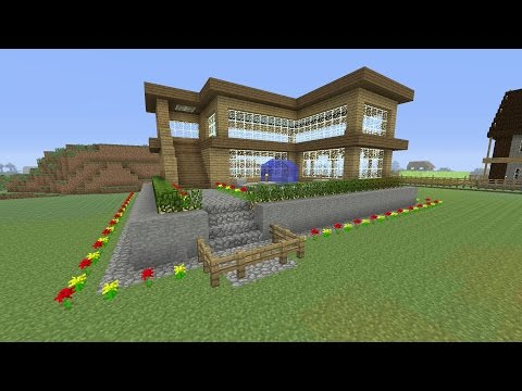 Minecraft Tutorial: How To Make A Awesome Wooden Survival House #2 (ASH#16)