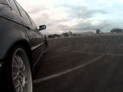 BMW e38 740i Drift Silverstone