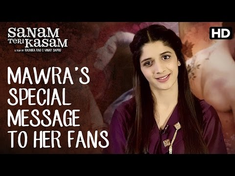 A Special Message From Mawra Hocane To Fans In Pakistan | Sanam Teri Kasam