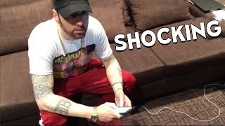 Eminem Teases MGK Response on Instagram Live