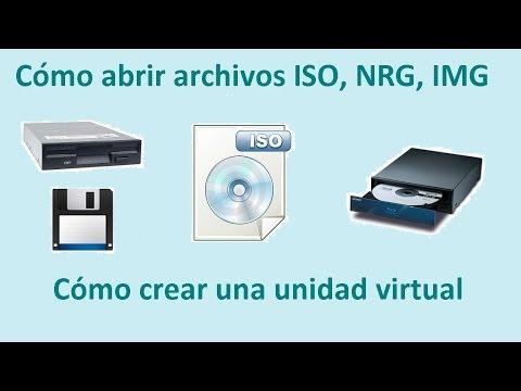 Como abrir archivos ISO, IMG, NRG, BIN, UIF con una unidad virtual.