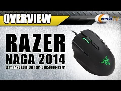 RAZER Naga 2014 Left Handed Expert MMO Gaming Mouse Overview - Newegg TV