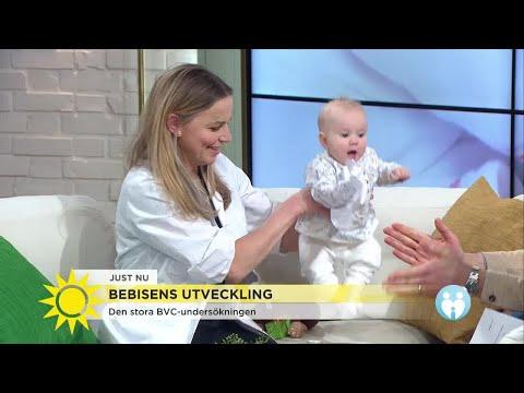 Därför är det viktigt att du tränar din bebis - så utvecklas en frisk bebis - Nyhetsmorgon (TV4)