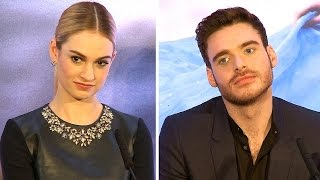 Cinderella Lily James & Richard Madden Interview - First Ballroom Dance