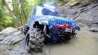 Download RC ADVENTURES - Stuck in Mud - Swamp Bogging in a 4x4 Jeep Wrangler Rubicon Radio Controlled Truck 3Gp Mp4