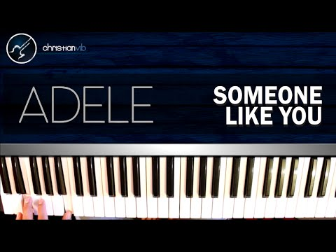 Cómo tocar Someone like You - ADELE - En piano (HD) Tutorial COMPLETO